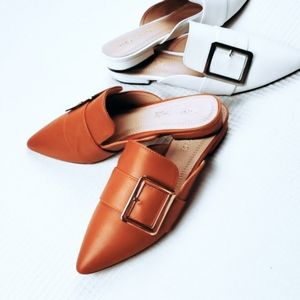 Shoes - The Rebecca//Tan mule flat